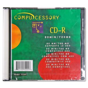 Compucessory CD Recordable Media - CD-R - 52x - 700 MB - 1 Pack CCS72201