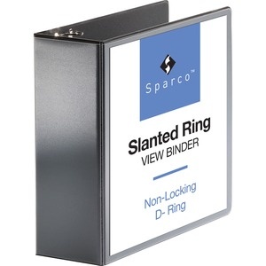 Sparco Slanted Ring View Binder SPR09800