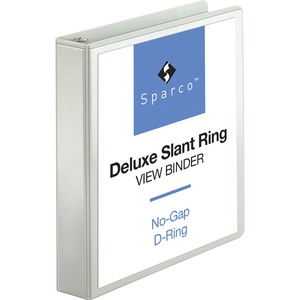 Sparco Deluxe Slant Ring View Binder SPR62465
