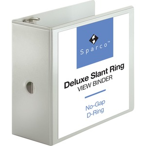 Sparco Deluxe Slant Ring View Binder SPR62473