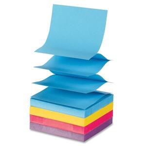 Sparco Fanfold Pop-up Adhesive Asst Note Pads SPR19825