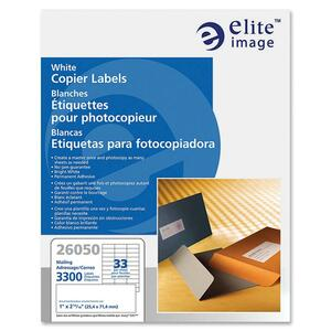 Elite Image White Copier Mailing Label ELI26050