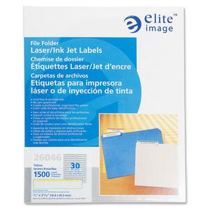 Elite Image Permanent Laser/Inkjet Filing Label ELI26046