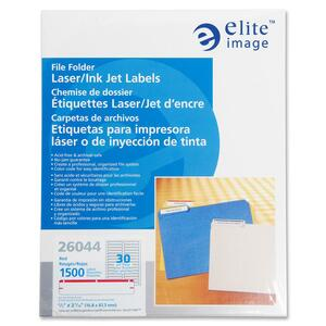 Elite Image Permanent Laser/Inkjet Filing Label ELI26044