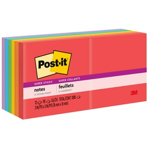 "Post-it Super Sticky 3""x3"" Marrakesh Notes"