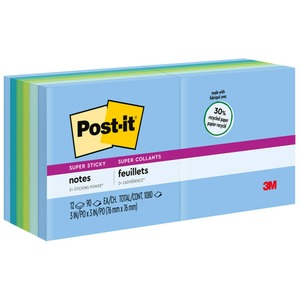 Post-it Super Sticky Tropical Note MMM65412SST