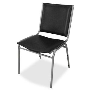 Lorell Padded Armless Stacking Chair LLR62502