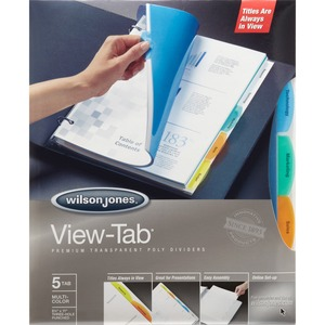 Wilson Jones View-Tab Transparent Divider Set WLJ55565