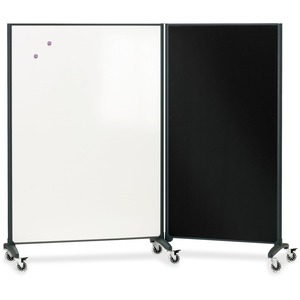 Quartet Motion Room Divider 3 x 6 DuraMax Porcelain Whiteboard