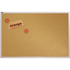 Quartet Aluminum Frame Natural Cork Board QRTECKA406