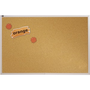 Quartet Aluminum Frame Natural Cork Board QRTECKA412