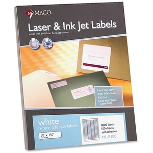 Maco Return Address Label MACML8100