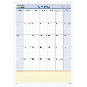 At-A-Glance QuickNotes Monthly Wall Calendar AAGPM5328