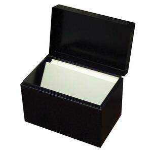 Buddy Hinged Cover Card File Box BDY4464