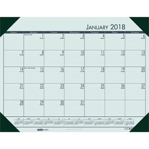House of Doolittle EcoTones Compact Calendar Desk Pad HOD12471