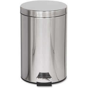 United Receptacle Medi-Can Steel Step Trash Can RCPMST35SSPL