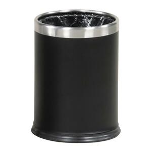 United Receptacle WHB14E Hide-A-Bag Wastebasket RCPWHB14EBK
