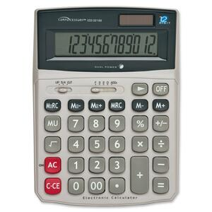 Compucessory Dual Power Desktop Calculator CCS02199