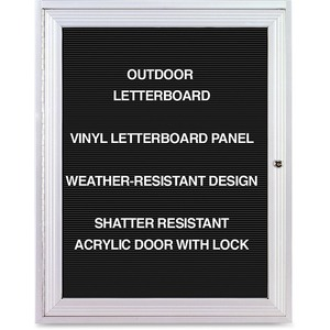 Ghent Enclosed Letterboard GHEPA13624BXBK