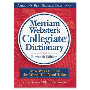 Merriam-Webster Collegiate Dictionary 11th EditionDictionary Printed/Electronic Book MER9