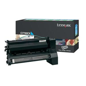 Lexmark Cyan Extra High Yield Return Program Toner Cartridge LEXC7720CX