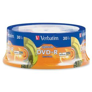 Verbatim 95339 DVD Recordable Media - DVD-R - 16x - 4.70 GB - 30 Pack Spindle VER95339