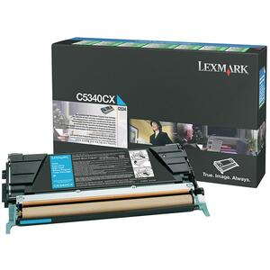 Lexmark Extra High Capacity Cyan Toner Cartridge LEXC5340CX