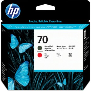HP 70 Matte Black and Red Printhead HEWC9409A