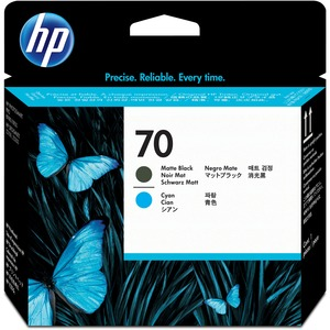 HP 70 Matte Black and Cyan Printhead HEWC9404A