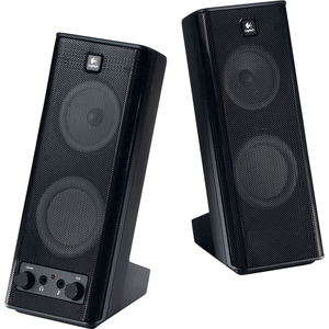 Logitech X-140 2.0 Speaker System - 5 W RMS - Black LOG9702640403
