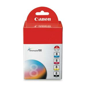 Canon CLI-8 Ink Cartridge - Assorted, Cyan, Magenta, Yellow CNMCLI84PK