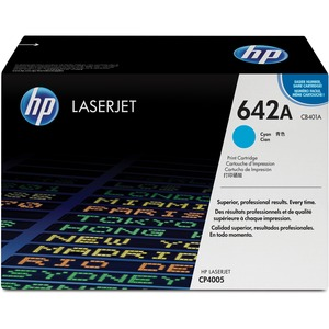 HP 642A Cyan Original LaserJet Toner Cartridge HEWCB401A