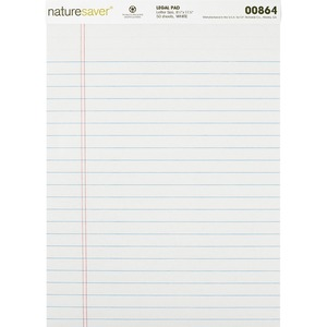 Nature Saver Recycled Legal Ruled Pad NAT00864
