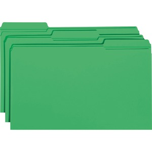Smead 17134 Green Colored File Folders with Reinforced Tab SMD17134