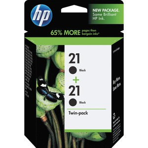 HP 21 Twin-pack Ink Cartridge - Black HEWC9508FN