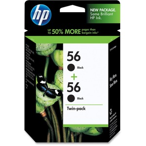 HP 56 Twinpack Black Ink Cartridge HEWC9319FN