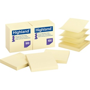 Highland Repositionable Pop-up Note MMM6549PUY