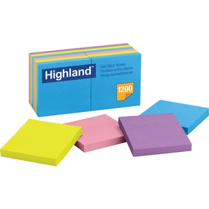 Highland Bright Self-stick Removable Note MMM6549B