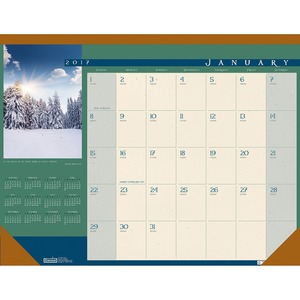 House of Doolittle Landscapes Desk Pad Calendar HOD168