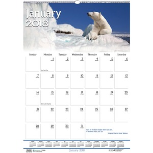 House of Doolittle Earthscapes Wildlife Wall Calendar HOD373