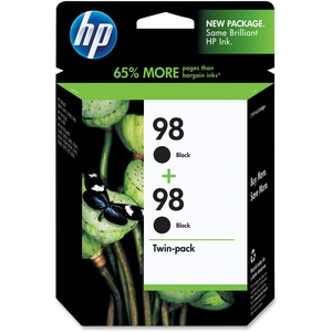HP 98 2-pack Black Original Ink Cartridges HEWC9514FN