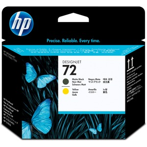 HP 72 Printhead - Matte Black, Yellow HEWC9384A