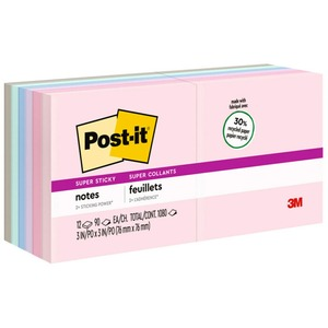 Post-it Recycled Super Sticky Bali Notes