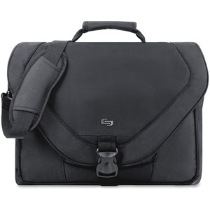 "Solo Classic Carrying Case (Messenger) for 17"" Notebook - Black USLPT9204"