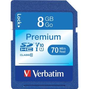 Verbatim 8GB Premium SDHC Memory Card, Class 10 VER96318
