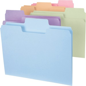 Smead 11961 Assortment Colored SuperTab File Folders with Oversized Tab SMD11961