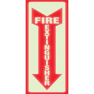 U.S. Stamp & Sign Glow Fire Extinguisher Sign USS4793