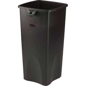 Rubbermaid Black Untouchable Square Waste Container RCP356988BK