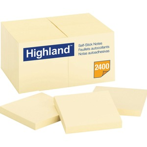 Highland Self Sticking Note MMM654924PK