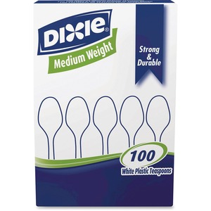 Dixie Medium-weight Plastic Teaspoon DXETM207